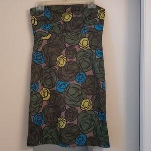Theory strapless floral cotton dress, size 4